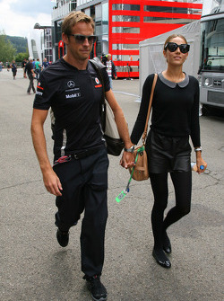 Jenson Button, McLaren Mercedes and Jessica Michibata girlfriend of Jenson Button