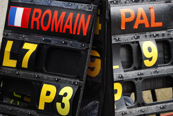 Romain Grosjean;Pal Varhaug pit boards