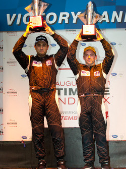 LMP1 podium: class and overall winners Humaid Al Masaood and Steven Kane