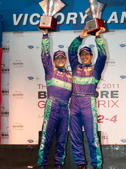 GT podium: class winners Wolf Henzler and Bryan Sellers