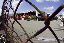 From pit road looking into the garage area