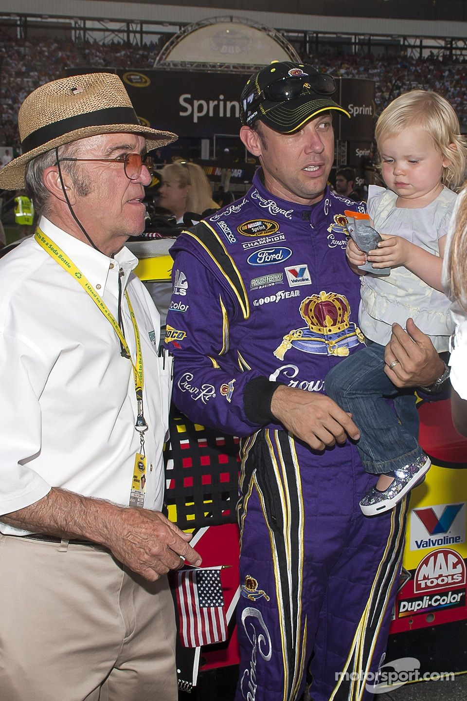 Matt Kenseth, Roush Fenway Racing Ford with Jack Roush