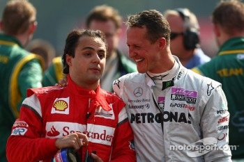 Felipe Massa, Scuderia Ferrari with Michael Schumacher, Mercedes GP F1 Team