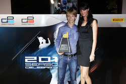 Johnny Cecotto collects his Dallara trophy