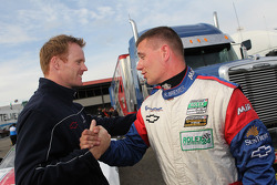 GT pole winner Ronnie Bremer with Robin Liddell