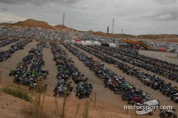 Parking at Motorland Aragon