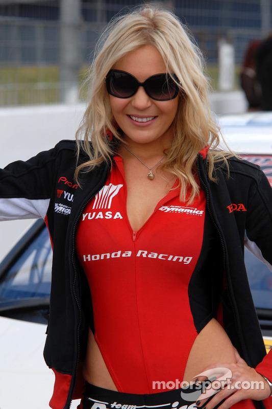 Honda Racing grid girl at Rockingham