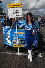 Sophie Fisher, grid girl to Jason Plato