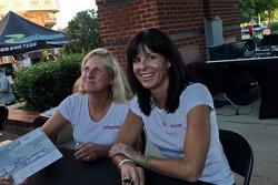 Petit Le Mans pre-race party: Andrea Robertson, Melanie Snow