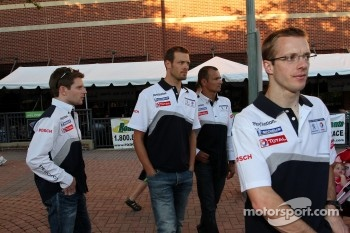Petit Le Mans pre-race party: Peugeot team arrives