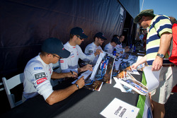 Peugeot Sport Total drivers at the autograph session