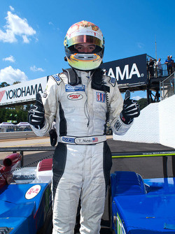 Tristan Nunez celebrates his 2nd place finish at Road Atlanta