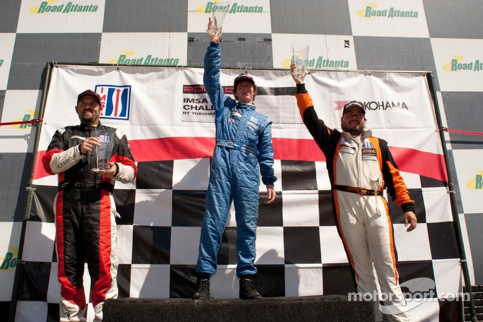 GT3 Cup Gold Class Podium: Madison Snow, Michael Mills, Andres Cisneros