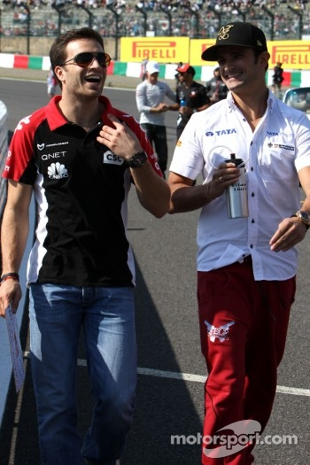 Jerome d'Ambrosio, Virgin Racing and Vitantonio Liuzzi, HRT F1 Team