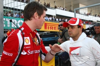 Rob Smedly, Scuderia Ferrari, Chief Engineer of Felipe Massa and Felipe Massa, Scuderia Ferrari