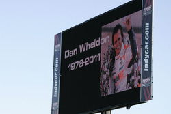 The track announces Dan Wheldon's passing