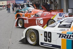 Porsche 962's staged for the qualifying session