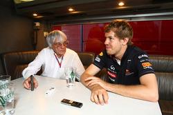 Bernie Ecclestone and Sebastian Vettel, Red Bull Racing interview