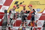 Podium: race winner Casey Stoner, second place Ben Spies, third place Andrea Dovizioso