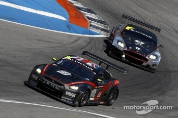 #4 Hexis AMR Aston Martin DB9: Christian Hohenadel, Andrea Piccini