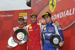 Trofeo Pirelli Ferrari Europa Challenge race 1 podium
