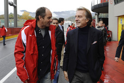 Luca di Montezemolo and Gerhard Berger