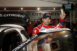 Sébastien Loeb celebrates his eighth world championship