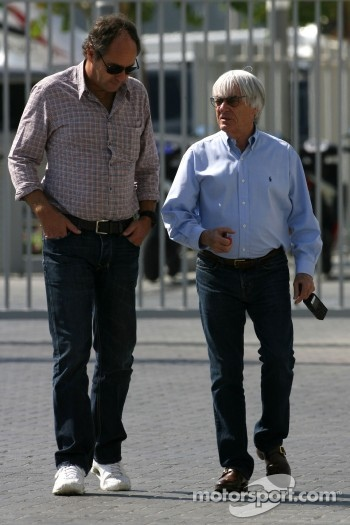 Gerhard Berger and Bernie Ecclestone