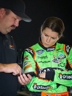 Danica Patrick, JR Motorsport Chevrolet with crew chief Tony Eury Jr.