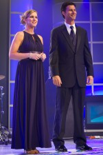 The hosts of the 2012 Nationwide and Camping World Truck Series Awards Banquet