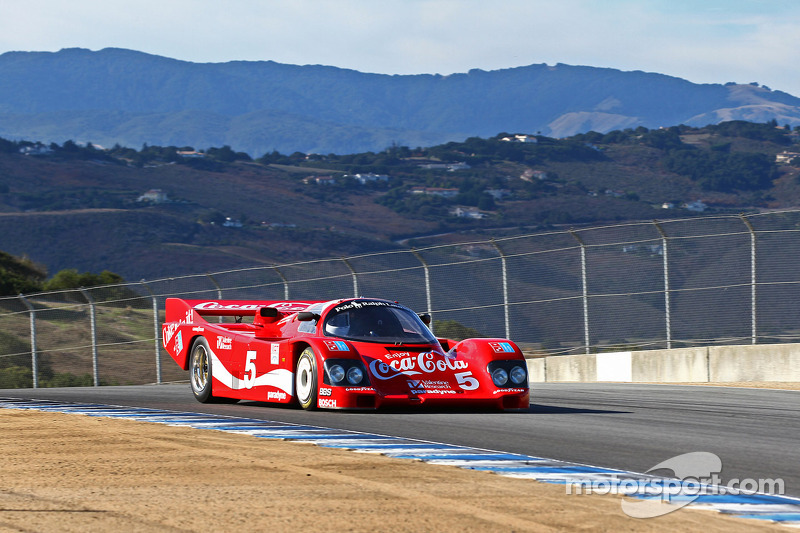 Lee Giannone drives the 1985 Bob Akin Racing Porsche 962
