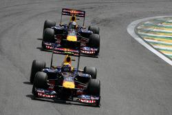 Mark Webber, Red Bull Racing and Sebastian Vettel, Red Bull Racing