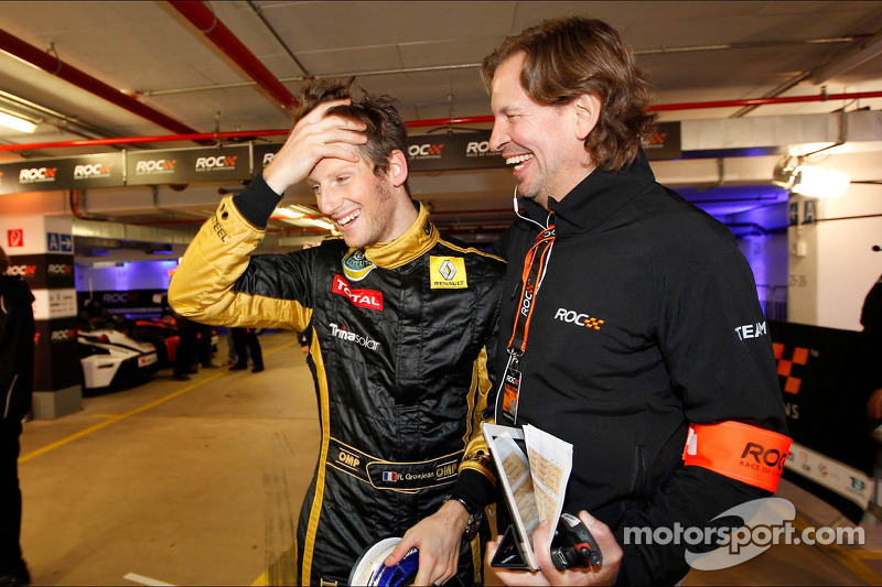 Romain Grosjean and Fredrik Johnsson, ROC organiser