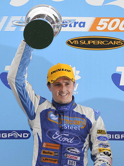Podium: race winner Mark Winterbottom
