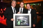 V8 Supercars Shane Howard, retiring driver Paul Dumbrell and team owner Rod Nash