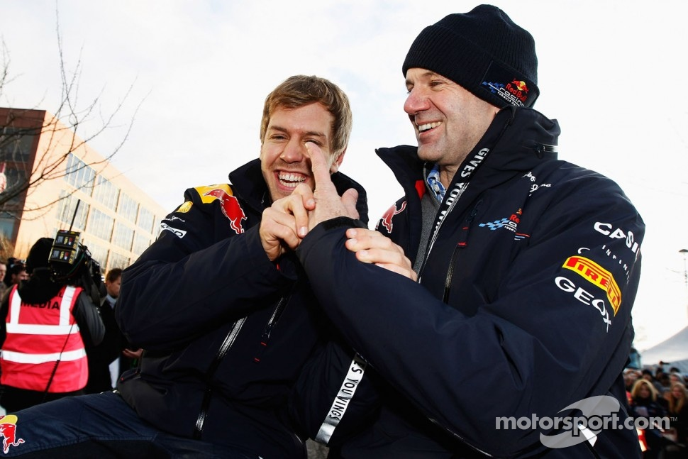 Sebastian Vettel and Adrian Newey, Red Bull Racing