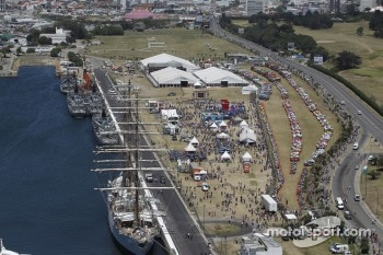 Overview of the harbor and staging area