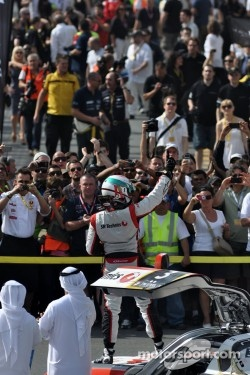 Khaled Al Qubaisi celebrates 24 Hours of Dubai win, 2012