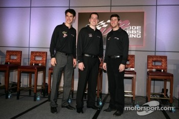 Joey Logano, Joe Gibbs Racing Toyota, Kyle Busch, Joe Gibbs Racing Toyota and Denny Hamlin, Joe Gibbs Racing Toyota