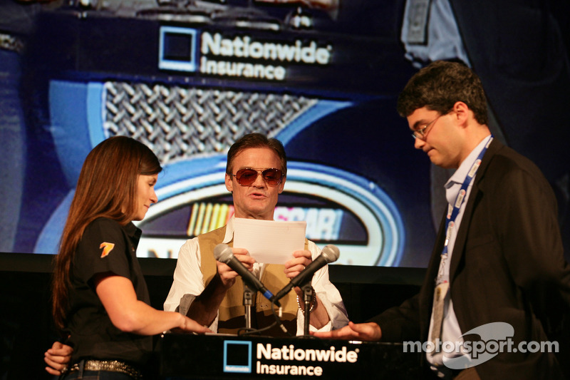 Danica Patrick plays trivia game with Kenny Wallace