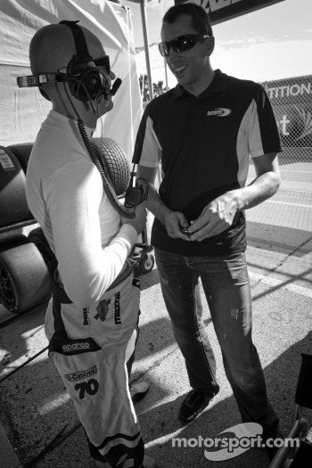 Marino Franchitti and Justin Wilson