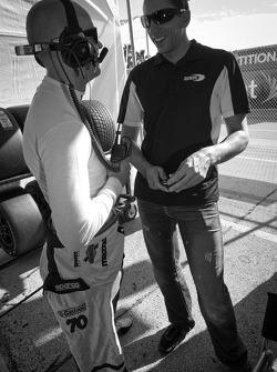 Marino Franchitti and Justin Wilson