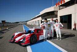 Kazuki Nakajima, Alexander Wurz, Nicolas Lapierre with the new Toyota Hybrid TS030