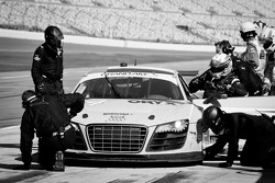 Pit stop for #74 Oryx Racing Audi R8 Grand-Am: Humaid Al Masaood, Saeed Al Mehairi, Steven Kane