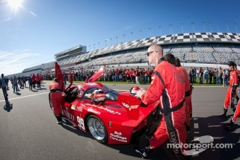 #99 GAINSCO/Bob Stallings Racing Corvette DP rolled to the starting grid