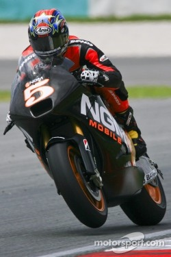 Colin Edwards in racing action