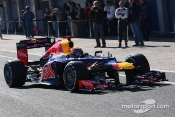 Mark Webber, Red Bull Racing in the new RB8
