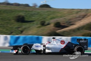 Sauber testing at Jerez.