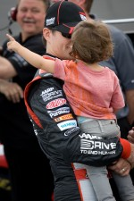 Jeff Gordon, Hendrick Motorsports Chevrolet with son Leo Benjamin