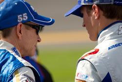 Mark Martin, Michael Waltrip Racing Toyota and Kasey Kahne, Hendrick Motorsports Chevrolet
